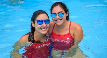 Swim instructors in pool